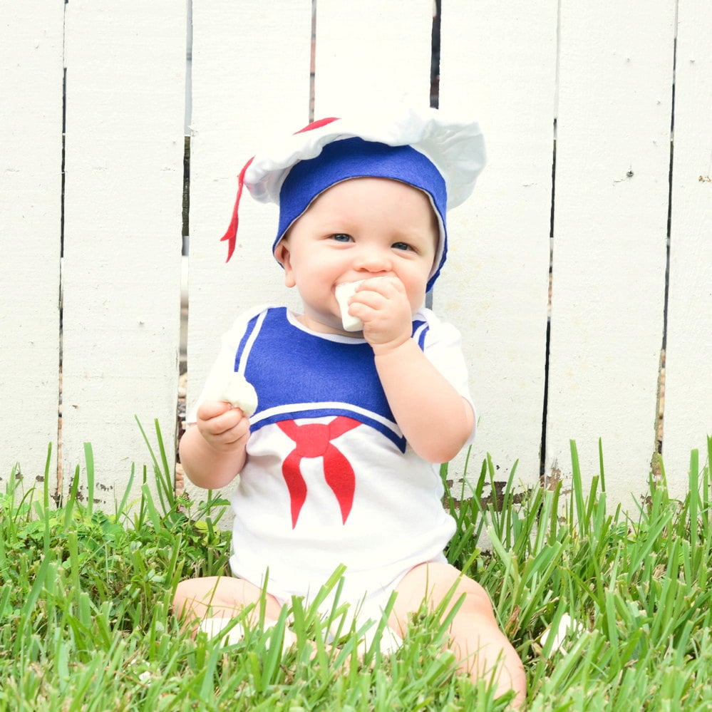 stay puft baby | last-minute halloween costumes for kids | popsugar
