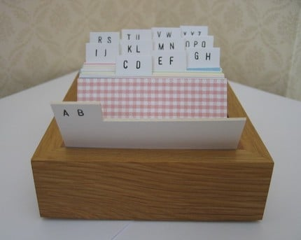 Small Address Book Box ($35)