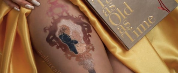 This Swatch Art of Lorac's Beauty and the Beast Palette Belongs in a Museum