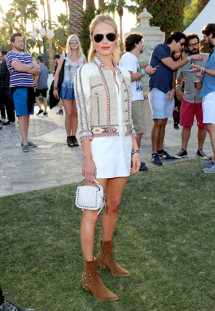 Kate Bosworth dressed the part in her Matisse boots and Etro jacket.