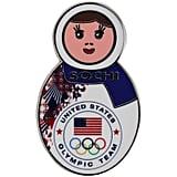 Sochi Nesting Doll Pin