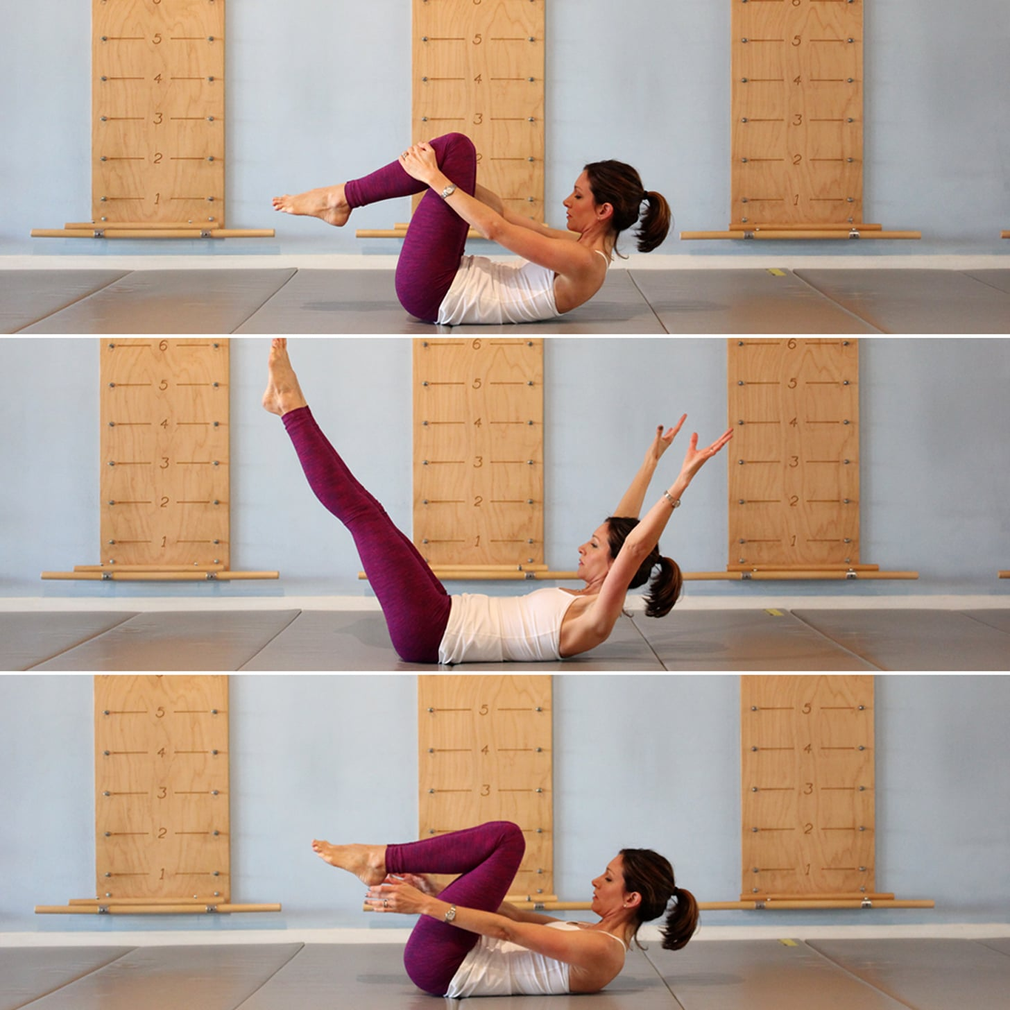 Double-Leg Stretch | For Stronger Abs, Add This 2-Minute Ab ...