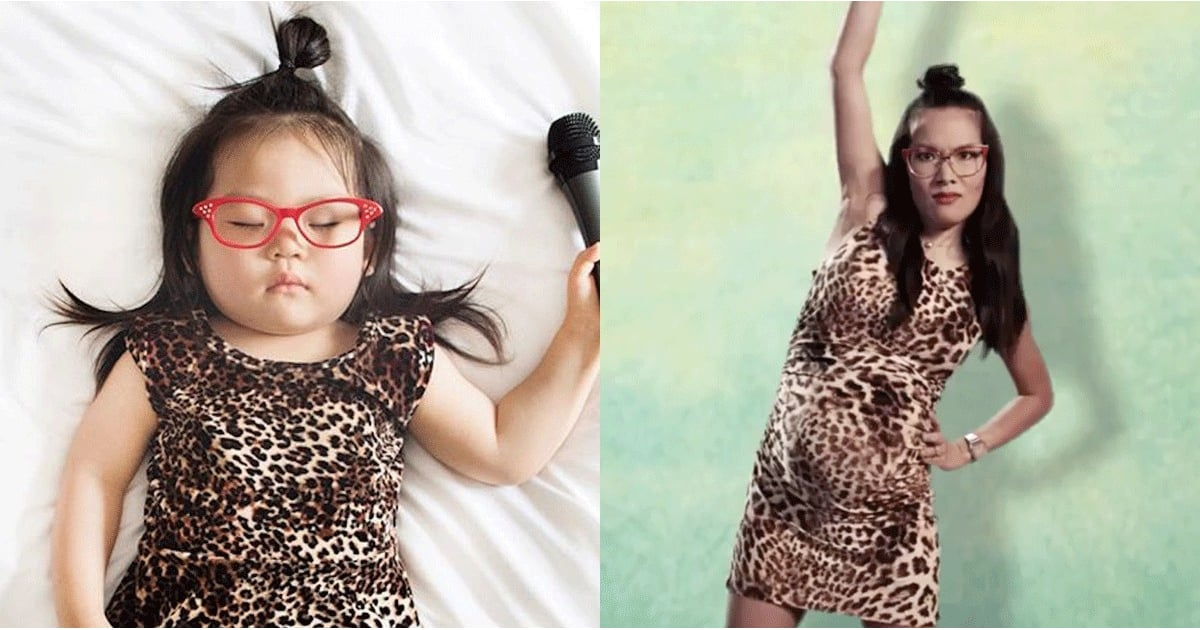 This Sleeping Toddler Dressed as Ali Wong is The Gift You Need