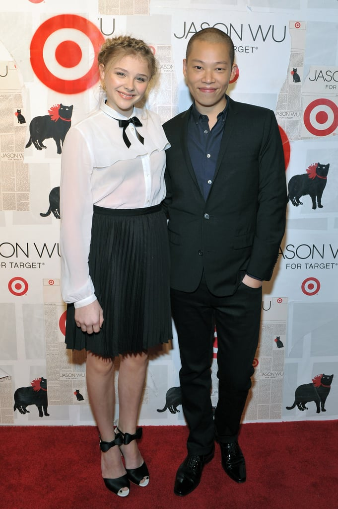 Chloe Moretz posed with designer Jason Wu.