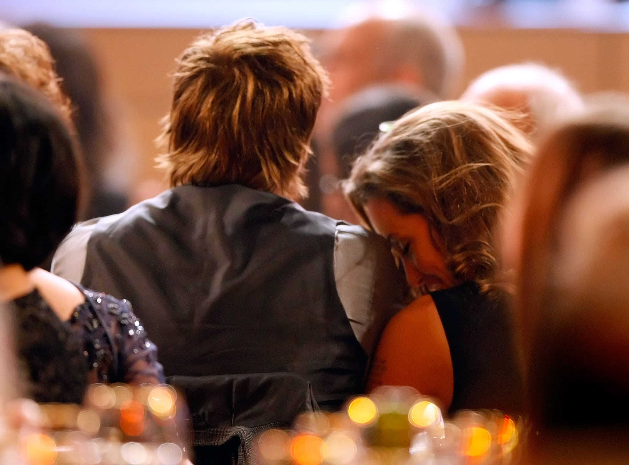 Angelina Jolie rested her head on Brad Pitt's shoulder at the 13th annual Critics' Choice Awards in January 2008.