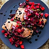 Grilled Salmon With Blood Orange Beet Relish