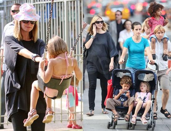 Photos of Heidi Klum, Johan Samuel, Henry Samuel, Leni Klum in NYC