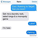 First, Angela Kinsey shared this screenshot of their text exchange.