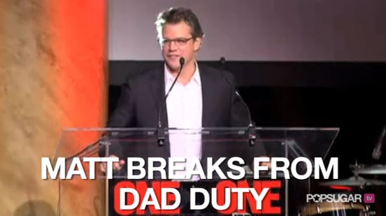 Video of Matt Damon at ONEXONE Fundraiser in New York 2010-10-28 10:04:00