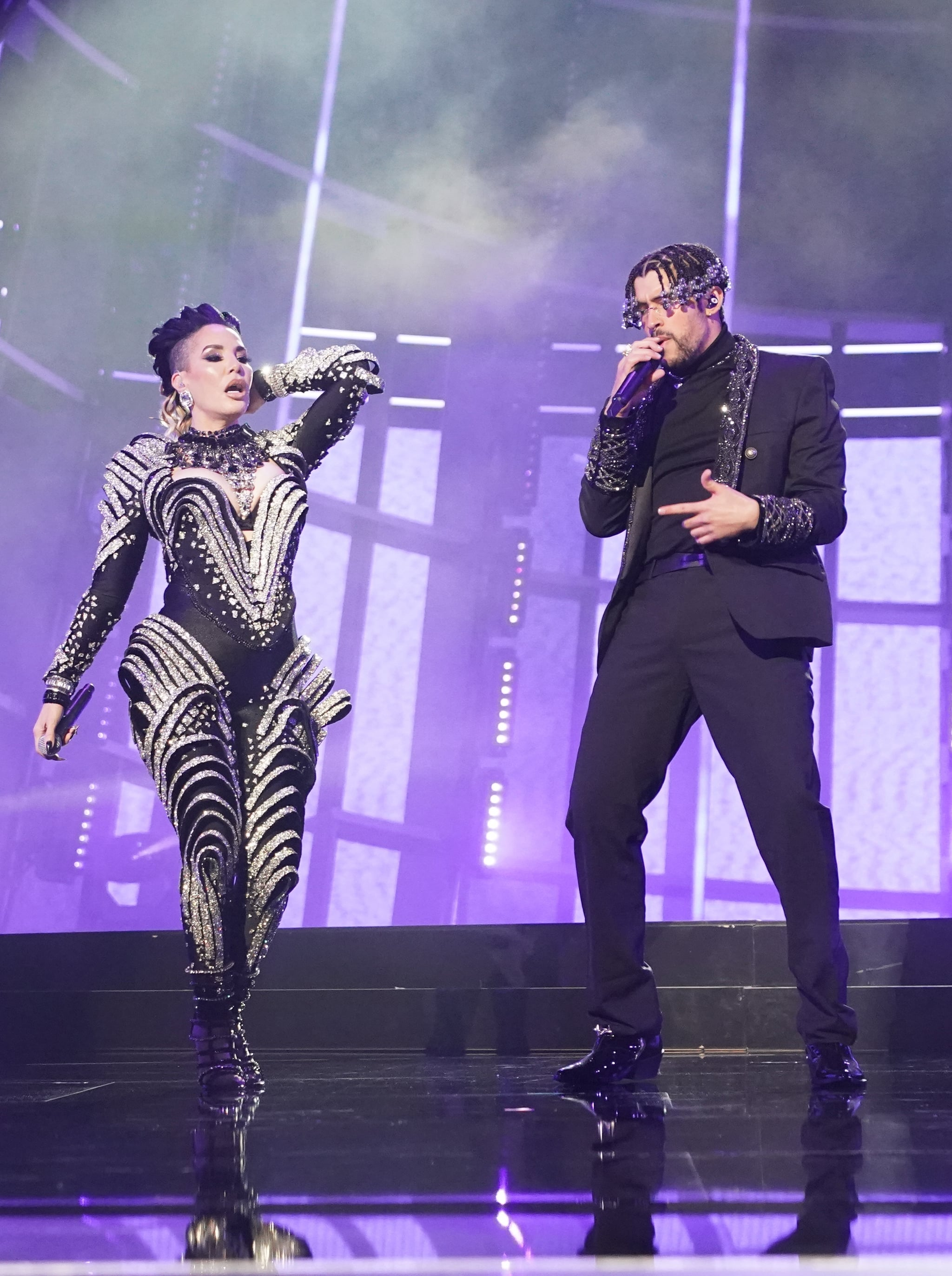 Ivy Queen And Bad Bunny At The 2020 Billboard Music Awards Presenting The 42 Best Photos From This Year S Billboard Music Awards Popsugar Celebrity Photo 37