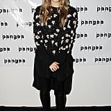 Going a more casual route, Elizabeth Olsen opened her Off Broadway production of Romeo and Juliet in a fittingly sweet floral sweater and top from Chloé's Resort collection.