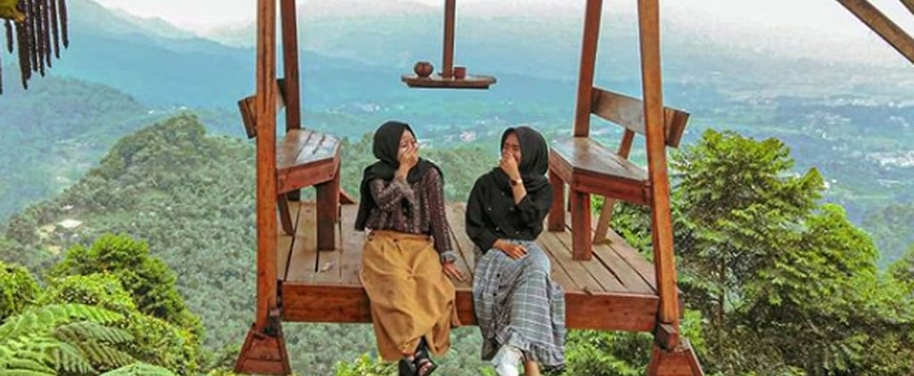 Hanging Swing at Puncak Mustika Manik in Indonesia