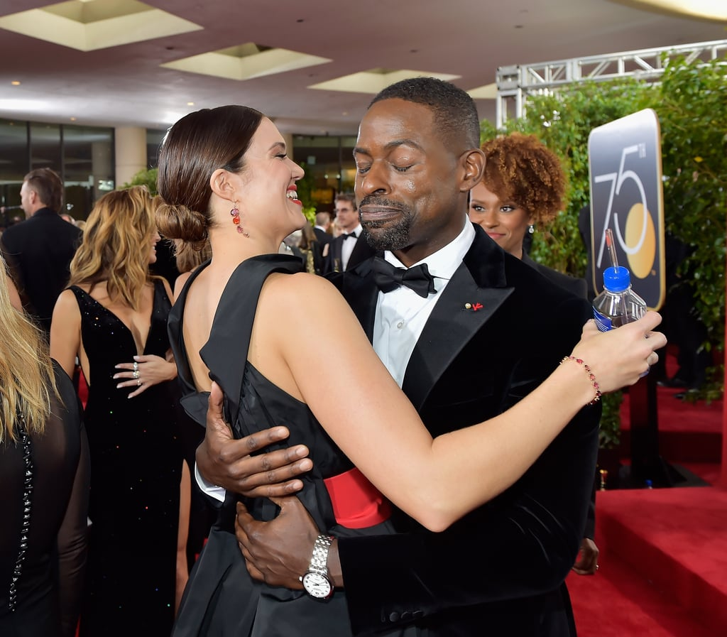 Pictured: Mandy Moore and Sterling K. Brown