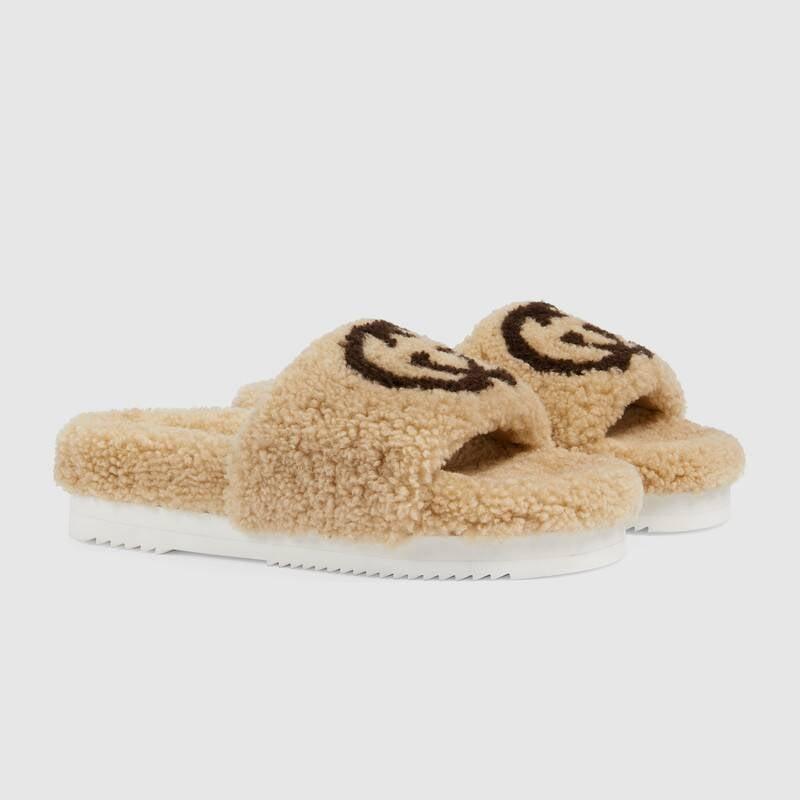 Gucci Women's Slide Sandal With Interlocking G