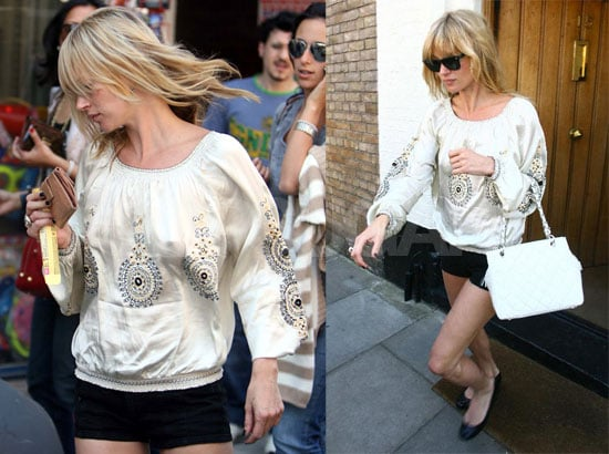 Kate Moss Stops For Ice Cream After Yoga