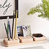 3-Piece Wooden Tray Desk Organizer ($50)
