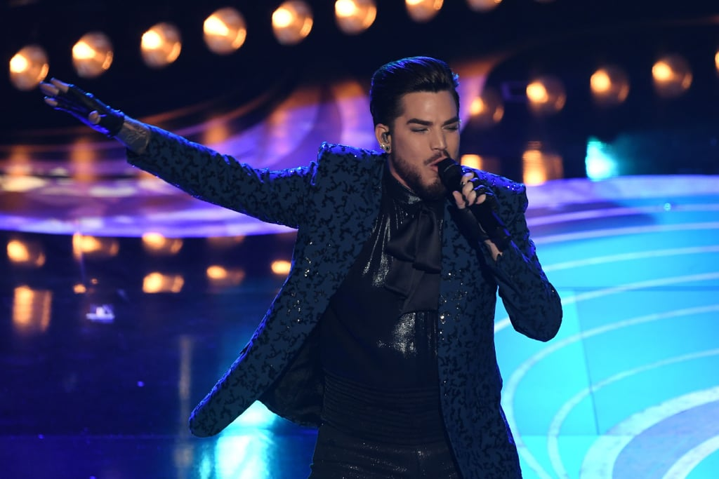 Queen And Adam Lambert S Oscars 2019 Performance Video Popsugar Entertainment