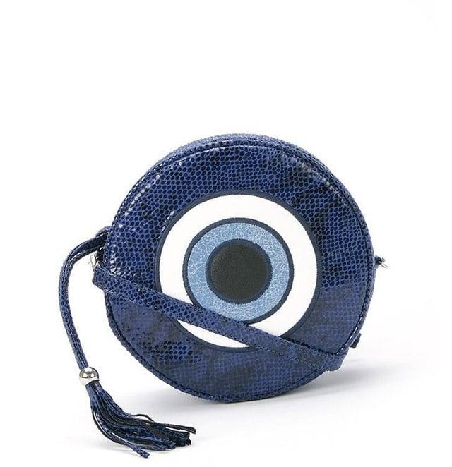Skinbiquini 'Olho grego' Round Bag ($100)