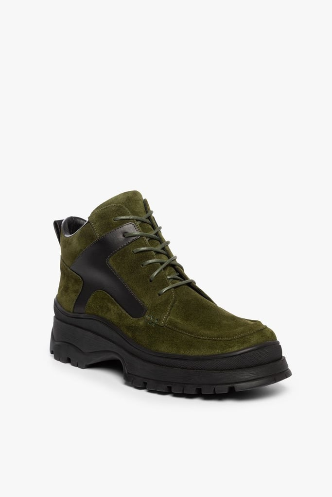 Staud Rocky Boot in Olive Suede