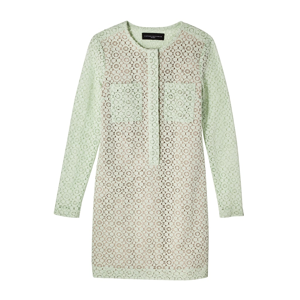 Mint Green Long Sleeve Lace Dress  ($40)