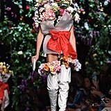 She Was Transformed Into a Bouquet on the Moschino Runway