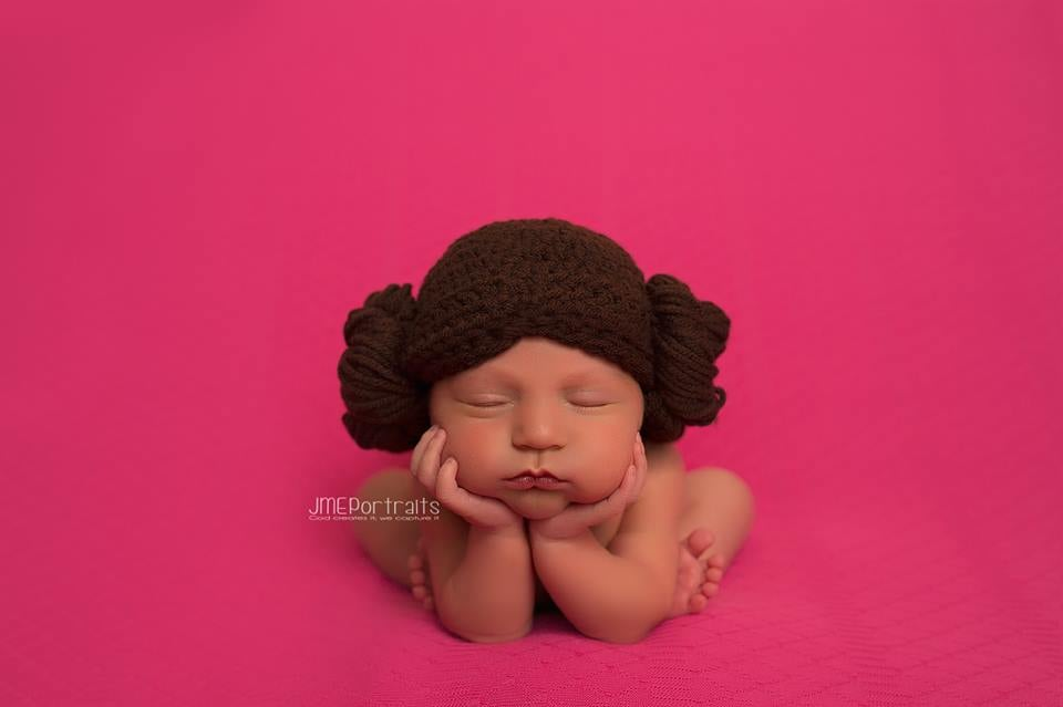 We're pretty sure one day Leia will grow into these buns