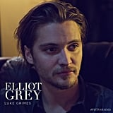 Luke Grimes plays Christian's brother, Elliot.