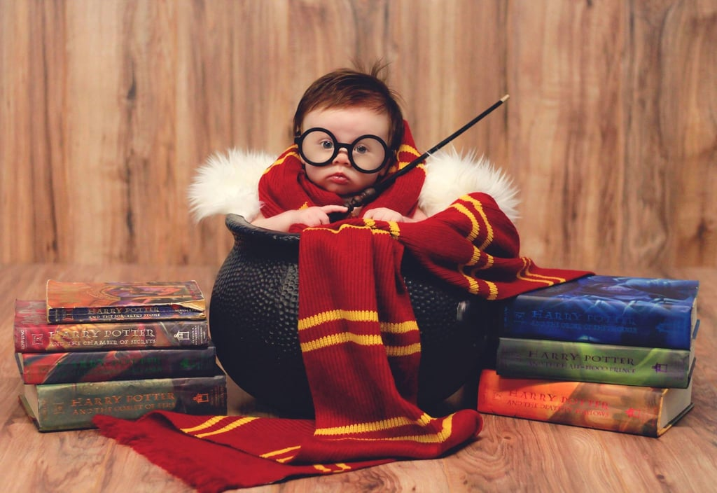 Newborn Harry Potter Baby Photo Shoot