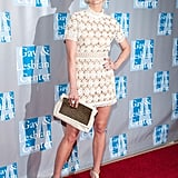 Ashlee Simpson's flirty white lace mini was Summer-perfect.