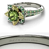 Green tourmaline Tiana Engagement Ring ($2,175)
