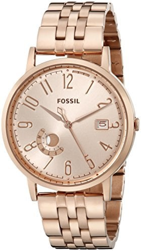 Fossil Women's ES3789 Vintage Muse Analog Display Analog Quartz Rose Gold Watch ($145)