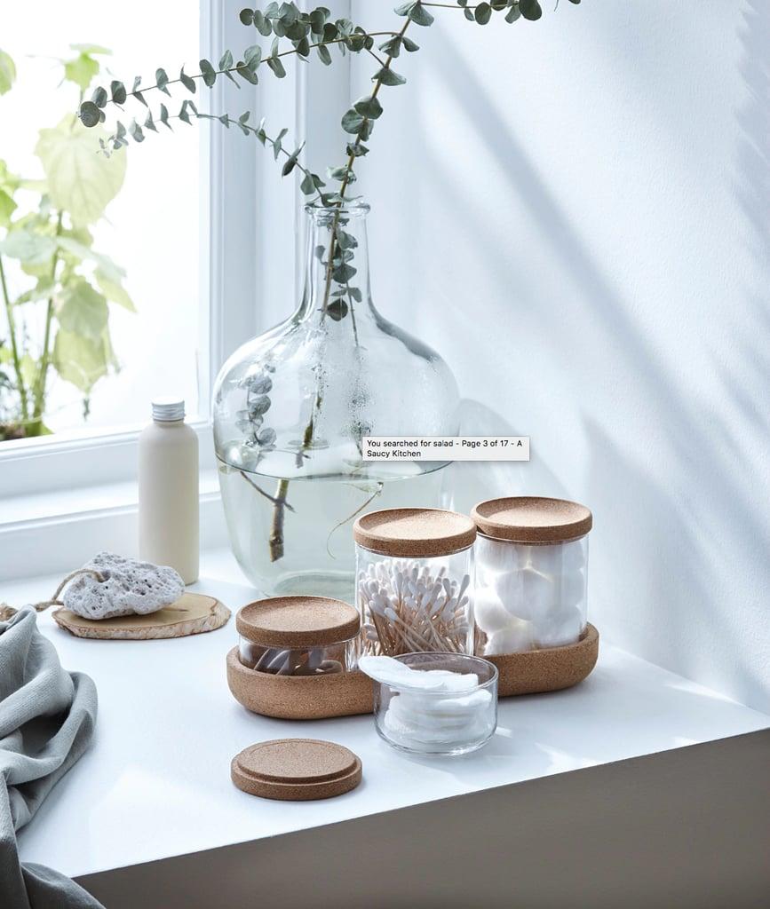 Saxbaroga Jars With Lids and Tray