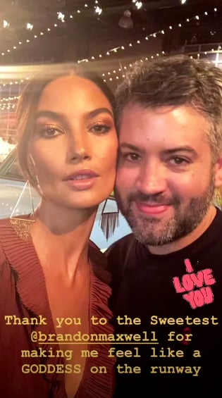 Lily Aldridge Posed With Brandon Maxwell After the Show