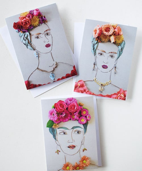 """Frida"" Greeting Cards Pack of 3 ($11)"