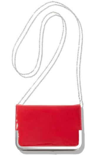 We love to pair this diminutive red clutch with a nude-hued dress. Theyskens' Theory Arni Clutch ($117, originally $195)