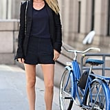 Doutzen Kroes showed off a chic blazer and shorts set. Source: Greg Kessler