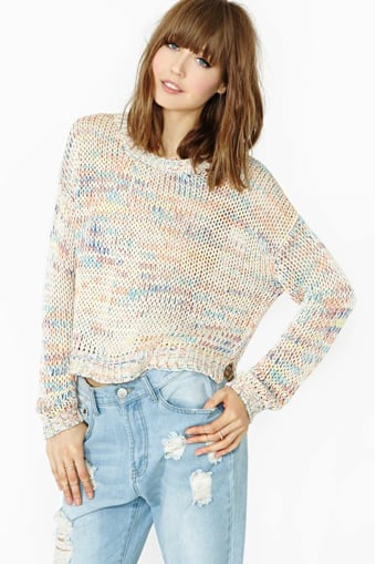 This appropriately named Sweet Life sweater ($48) has a laid-back California-girl feel.
