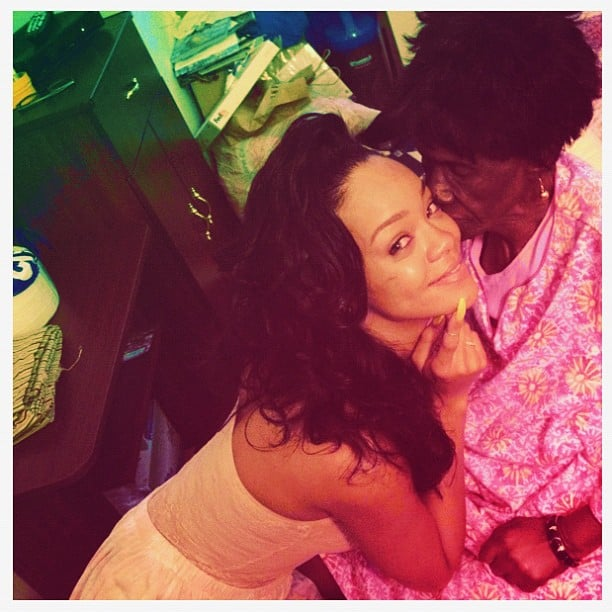 Rihanna shared a sweet moment with her grandmother. Source: Instagram User badgalriri