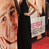 Leelee Sobieski stepped onto the red carpet at the Five-Year Engagement premiere during the 2012 Tribeca Film Festival.