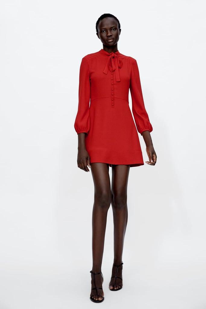 Zara Dress With Bow