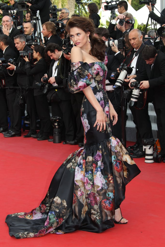 Bianca Balti wore a formfitting floral Dolce and Gabbana gown to the Lawless premiere.
