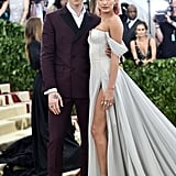 Hailey joined Shawn Mendes as her date at the 2017 Met Gala. The duo wore Tommy Hilfiger for fashion's biggest event, and Hailey let Jimmy Choo heels peek out from under her slit. She finished her look with Tiffany & Co. jewels and a Jennifer Behr headpiece.