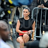 Kim Kardashian joined the Project Runway team as a guest judge for the ninth season debut.