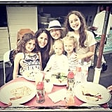 Soleil Moon Frye's girls had a fun dinner with Rebecca Gayheart's tots. Source: Instagram user moonfrye