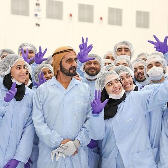 Sheikh Mo Visits Mohammed bin Rashid Space Centre