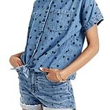 Madewell Tie-Front Denim Shirt