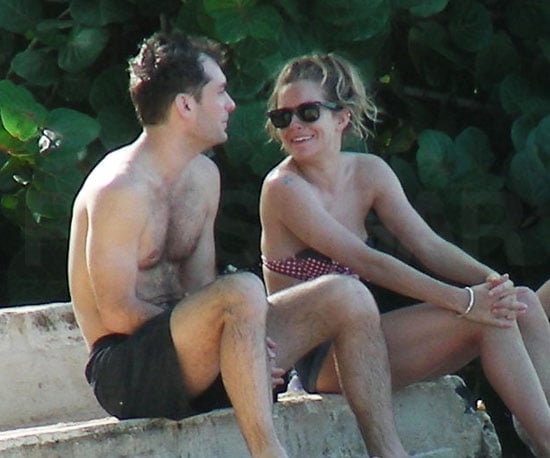 Slide Photo of Shirtless Jude Law and Sienna Miller in a Bikini on Vacation in Barbados