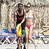 Doutzen Kroes enjoyed a beach day with her husband, Sunnery James, and their son, Phyllon.