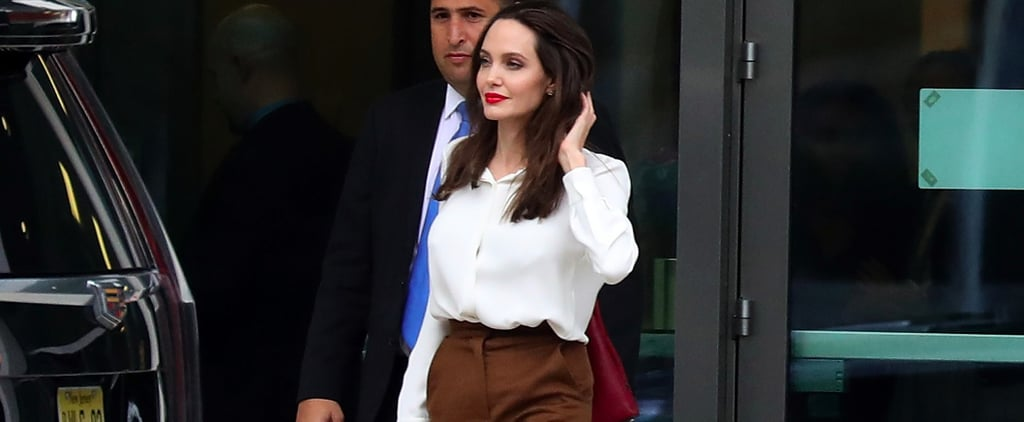 Angelina Jolie's Brown Skirt at UN Visit