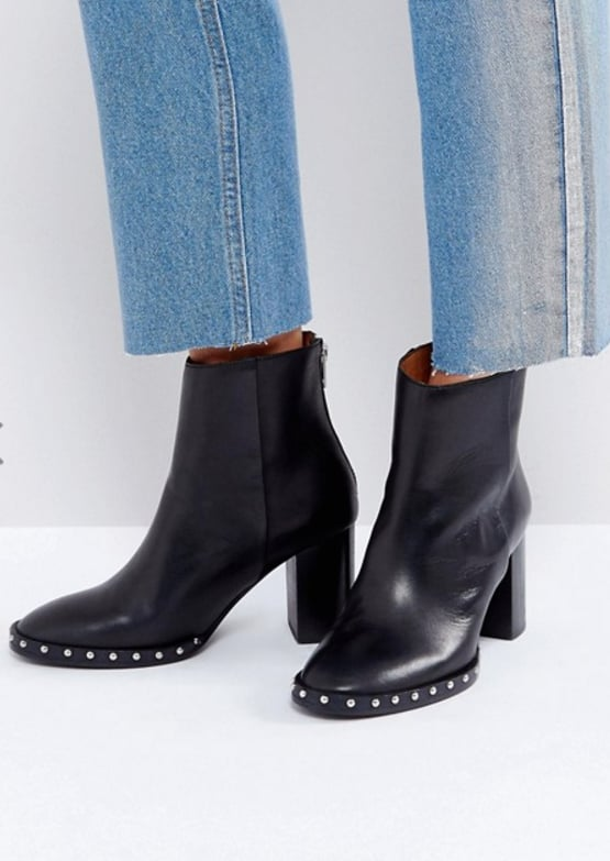 All Saints Ines Studded Heeled Boot, $451